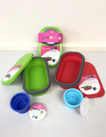 Lexngo Silicone Collapsible Lunch Combo (Small)
